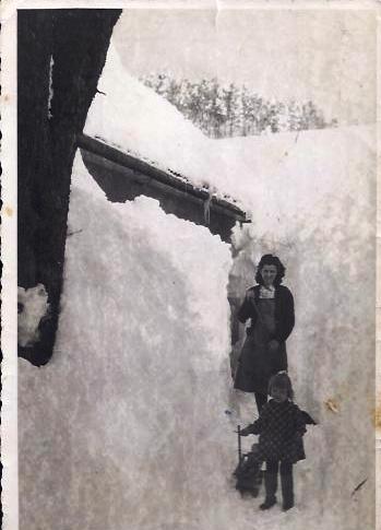 sneg, leta 1952, približno ob tem času