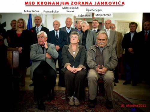 Med kronanjem Zorana Jankovića, 2011 na Magistratu v Ljubljani