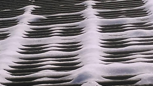 Iskrijo se bele sledi ... Foto: Ljuba Rebolj