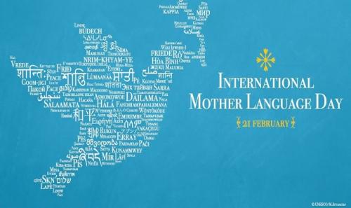 plakat ob mednarodnem dnevu maternega jezika (UNESCO)