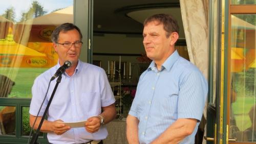 Peter Zadel, direktor Kmečkega glasa, in Peter Vrisk, predsednik ZZS