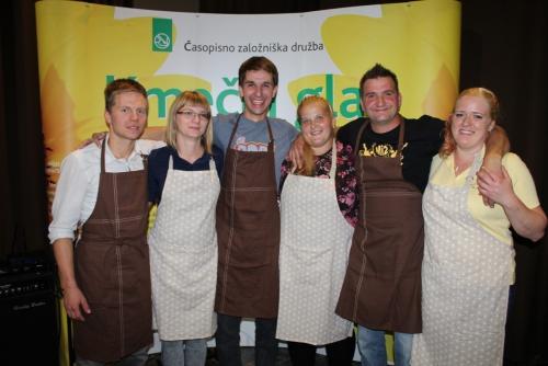 Finalisti: Nikolaj Brence, Petra Dular, Peter Apat, Zvonka Rabič ter zakonca Andrej in Magdalena Golež