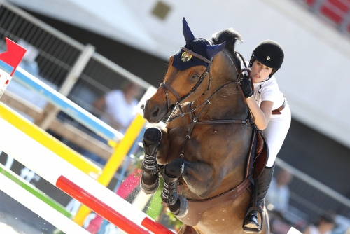 2 - Jessica Springsteen na enem najdražjih konj na svetu, Vidicatu W (Foto: LGCT / S. Grasso)