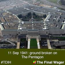 Rezultat iskanja slik za the groundbreaking for the pentagon took place on september 1941