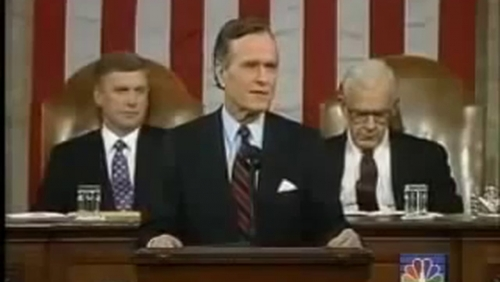 Rezultat iskanja slik za bush senior speech 11.9. 1991