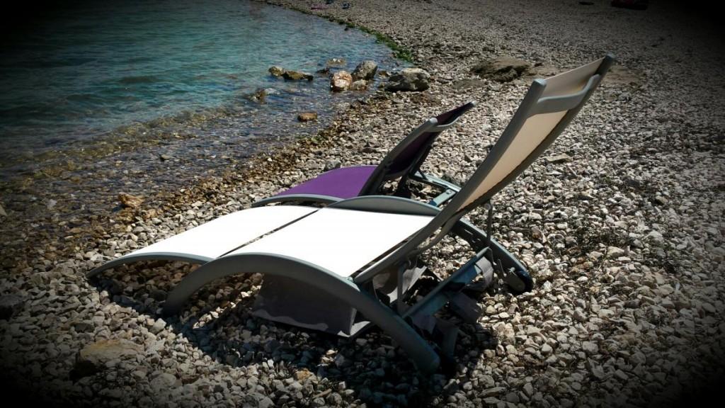 mini ležalnik/stolček SUNY in 3-delni ležalnik POCKET STAR