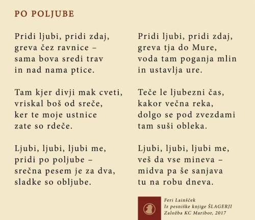 Iz pesniške knjige Šlagerji