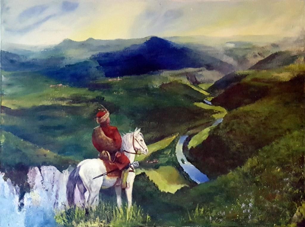Uskoški vojak na vrhu Kozic.