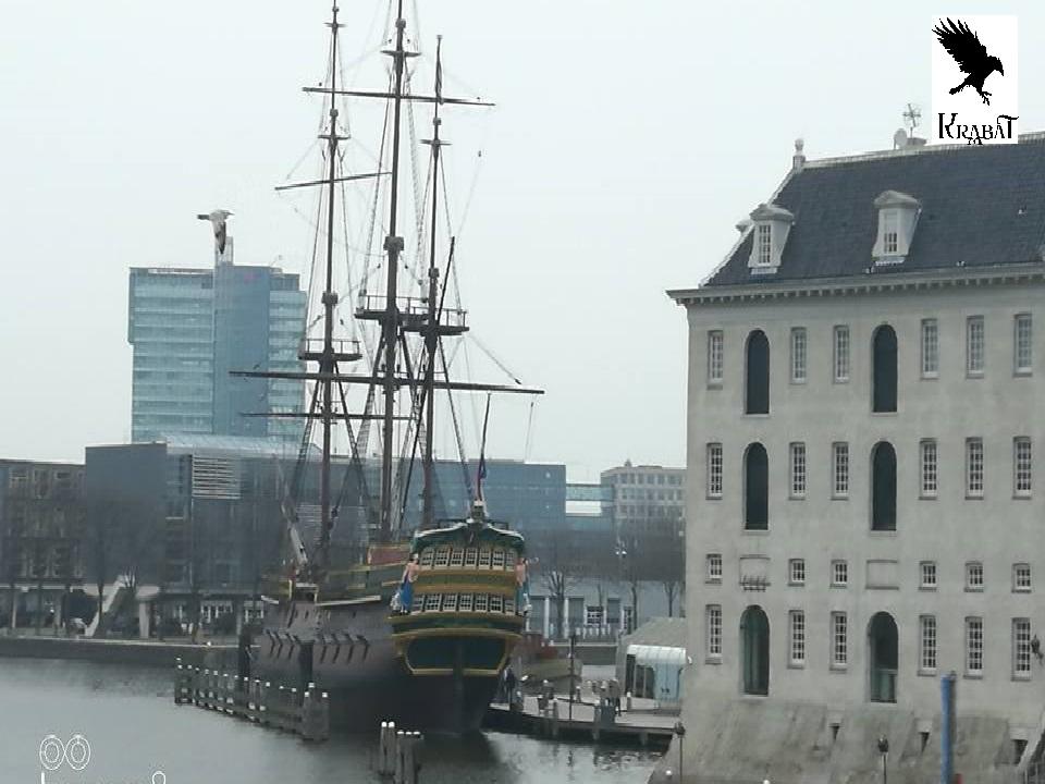 Rekonstrukcija ladje iz 18. st. in pomorska šola v Amsterdamu