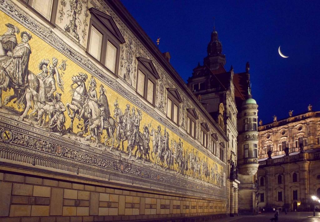 Dresden, Zid Saških vojvod