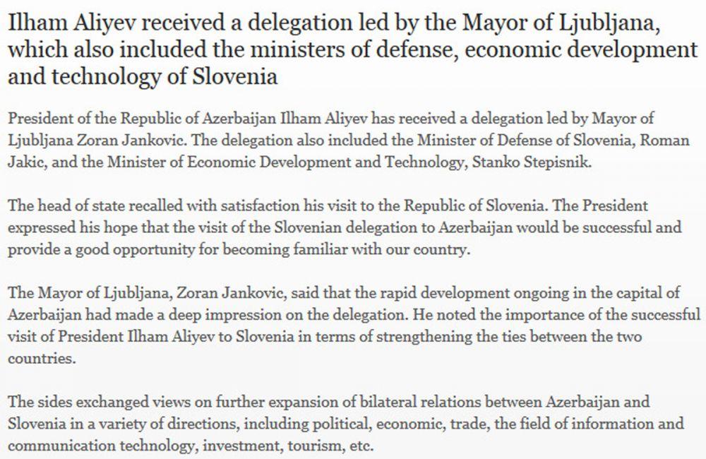Tudi tekst pod fotografijo ne pušča nobenega dvoma, šef slovenske delegacije je Zoran Janković ...