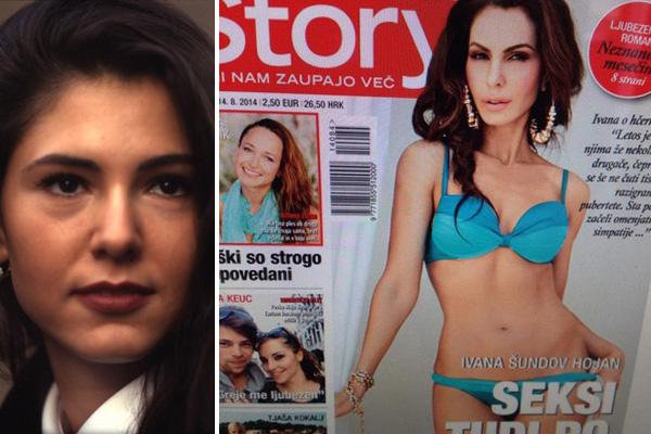 Ivana Šundov (slika levo) - kot je bila videti na začetku svoje televizijske kariere na TV Slovenija, in Ivana Šundov Hojan danes, na naslovnici revije Story (desno), po številnih lepotnih operacijah ...