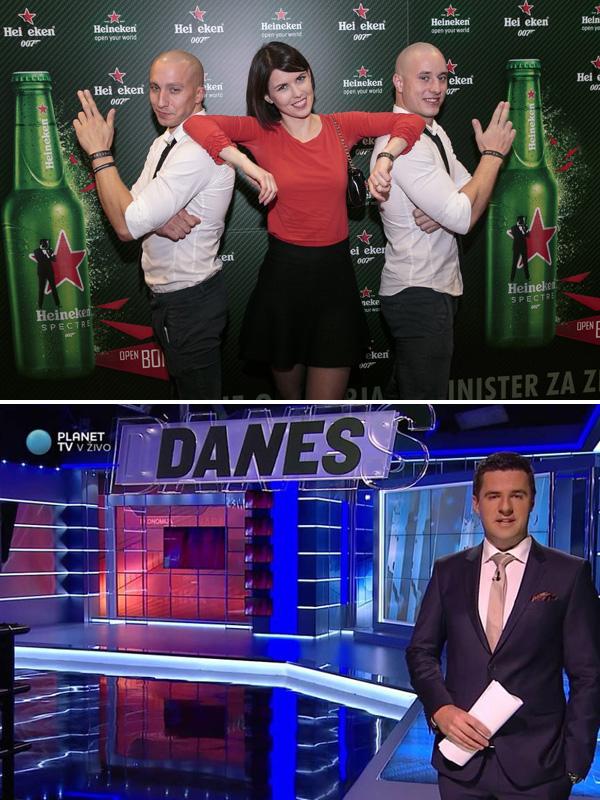 To je Kaja Flisar, temnolasa novinarka Planet TV (slika zgoraj), ki je prevzela Mirka Mayerja (spodaj).