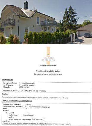 Zemljiški dolg pri Heleni Blagne ni vknjižen na stanovanjsko hišo (za povečavo kliknite na sliko) ...