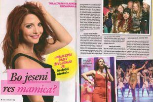 Revija Suzy je včeraj objavila novico o nosečnosti Tanje Žagar, ki naj bi zibala jeseni. Kot vedno, Tanja Žagar tudi tokrat molči o svojih moških ...