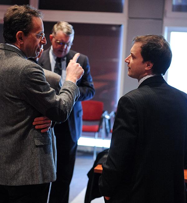 Žiga Turk in Igor Masten. Slednji naj bi bil favorit nove runde bitke za novega guvernerja Banke Slovenije.