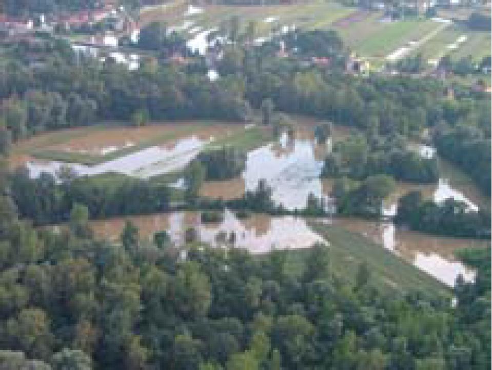 Fotografija 28: Poplavljeno Razkrižje / h-max= 180 cm