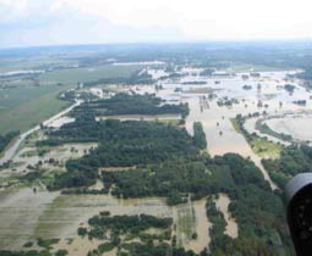 Fotografija 32: Mura na meji s Hrvaško / 23.8.2005