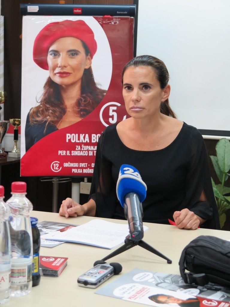 ... in Polka Bošković kot kandidatka za županjo - leta 2014.