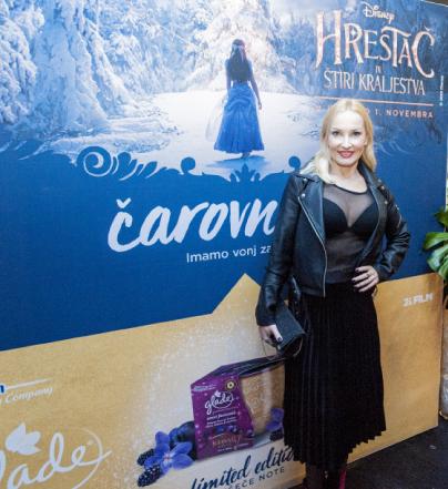 Disneyjevega Hrestača so si premierno ogledali tudi igralka Tanja Ribič ...<br>
