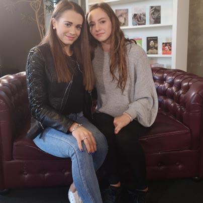 Maja Ocvirk in Živa Horvat<br>