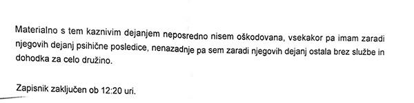 Gospa S. V. je Gašparja Gašparja Mišiča kazensko ovadila 27. novembra, potem ko je videla, kaj vse danes počne Mišič.