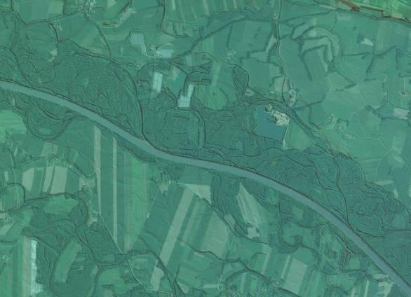 Slika 7: LIDAR podatki obdelani v sodobnem 3R<br>programskem paketu