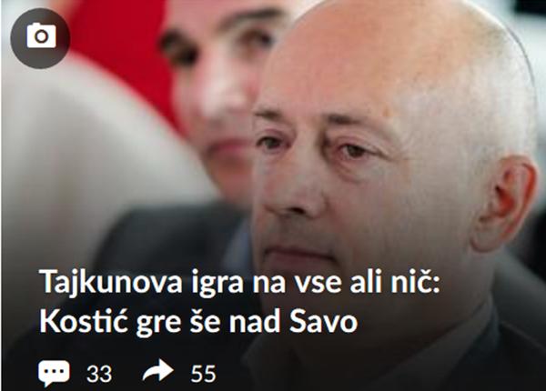 Jamnik preko Vukovićeve in Cirman na spletnem portalu Siol.net vztrajno napada Miodraga Kostića ...