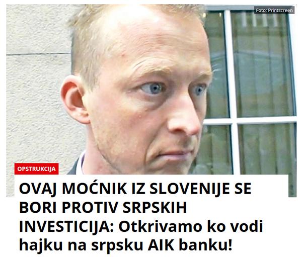 ... najbogateljši srbski tajkun pa mu - očitno - vrača v beograjskem časopisu Kurir.