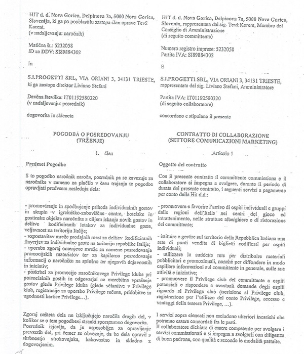 Pogodba med Hitom in Stefanijem je bila podpisana julija 2017 ...<br>