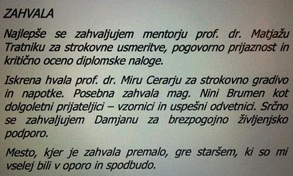 Mojca Stropnik se je ob diplomi zahvalila tudi Miru Cerarju ....<br>
