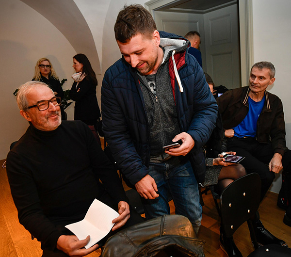 Igor Omerza, Rado Pezdir in novinar Reporterja Ivan Puc<br>