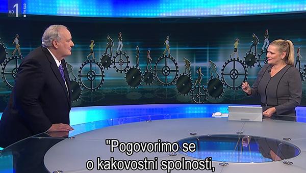 Tanja Gobec tistega usodnega 11. oktobra lani, med vodenjem Odmevov ...<br>