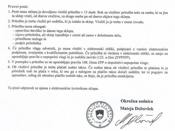 Oba sklepa o soglasju k sklenitvi prodajnih pogodb za nakup stanovanj Tanje Žagar in Mikija Šarca je podpisala okrožna sodnica Mateja Dobovšek, žena poslanca Bojana Dobovška.<br>