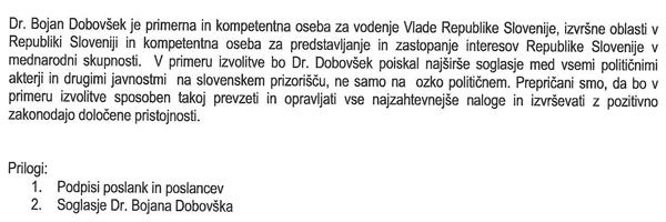 Tajni predlog parlamentarne nezaupnice je spisan na treh straneh, vendar nima datumov, niti podpisov poslancev ...<br>