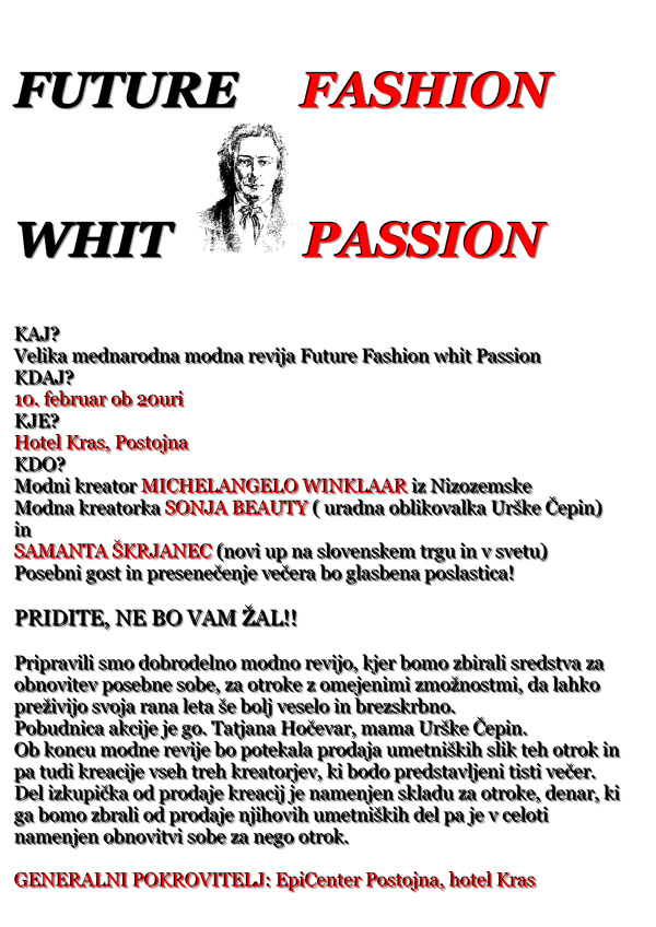 Preberite vabilo, napisano v bizarni slovenščini.<br>