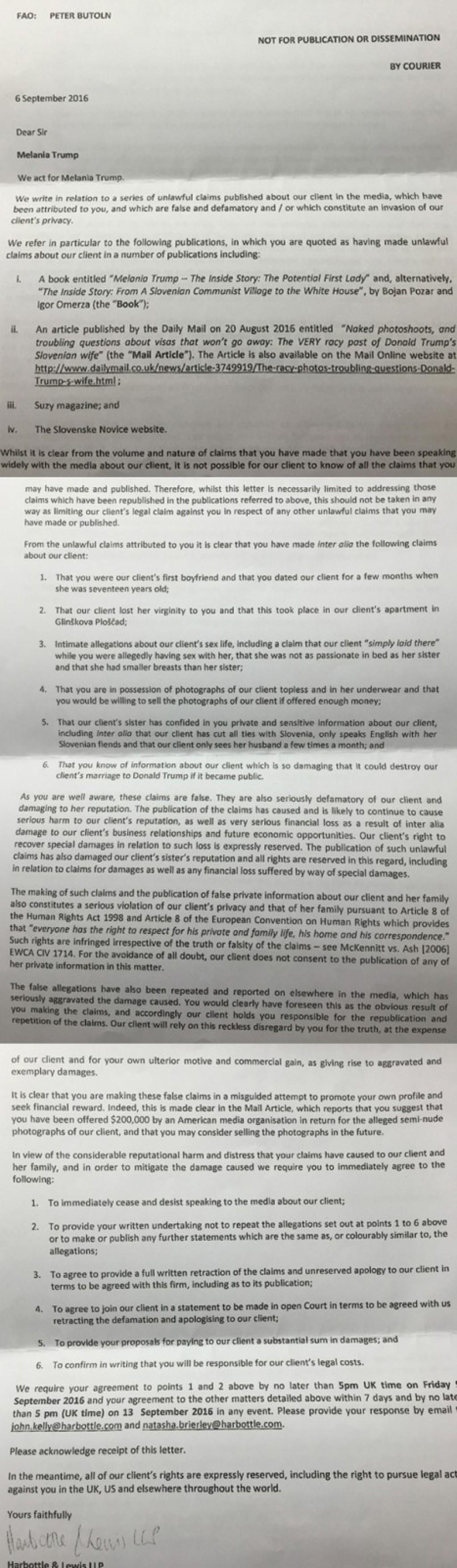 To je faksimile elektronskega pisma, ki ga je Peter Butoln prejel od londonske odvetniške pisarne Harbottle & Lewis (za povečavo kliknite na sliko). Ameriški novinarji so menda zgroženi.<br>