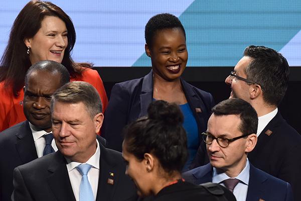 ... pa se je na včerajšnjem Forumu Afrika - Evropa na Dunaju očitno počutil - odlično. (foto: STA).