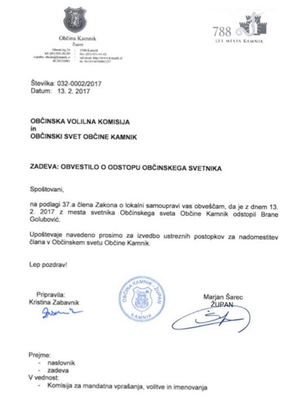 Brane Golubović je 13. februarja letos nenadoma odstopil kot mestni svetnik in se kmalu potem zaposlil v kabinetu Marjana Šarca.<br>
