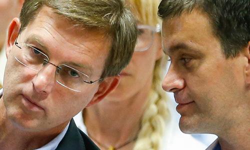 Miro Cerar in Aleksander Kešeljević. Ko slednji biznisira, Cerar, pravijo, gleda stran ...<br>