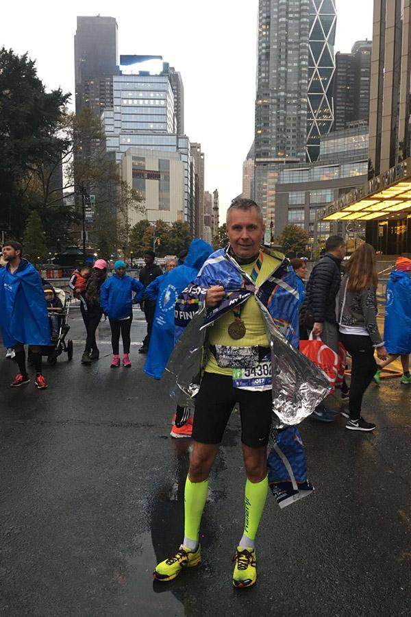 Na cilju mojega šestega maraton v zadnjih treh letih<br>