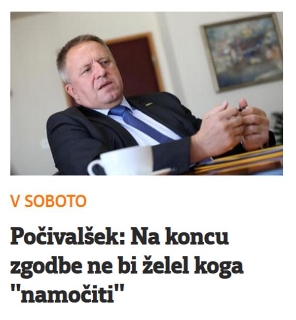 Gospodarski minister Zdravko Počivalšek spet grozi, tokrat preko daljšega sobotnega intervjuja v časopisu Večer. Kjer ga je prijazno intervjuval ga je novinar Srečko Klapš.<br>