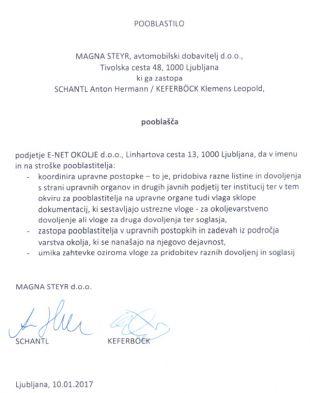Magna Steyr je vlogo za pridobitev okoljevarstvenega soglasja, poslano na Arso, pravno zašuštrala že na samem začetku, saj ga niso podpisali tako, kot to zahteva slovenski sodni register.<br>