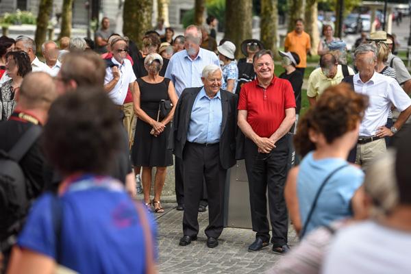 Na včerajšnji otvoritvi Spomenika sprave na Kongresnem trgu v Ljubljani se je Zoran Janković pojavil v spremstvu nekdanjega predsednika države Milana Kučana.<br>
