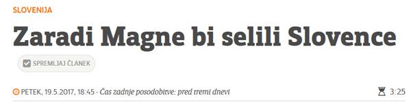 Te dni le še novinarji časopisa Večer še vedno pišejo pravljice za lahko noč o več tisoč zaposlenih na bodoči Magni v Hočah, kjer naj bi morali Slovence zaradi številnih delovnih mest celo preseljevati. Čeprav celo predstavniki Magne Steyr zagotavljalo samo 400 delovnih mest.<br>