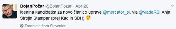 Moj tvit - 25. aprila ...<br>