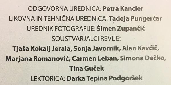Iz kolofona (impressuma) revije Avenija je razvidno, da je Alan Kavčič med vodilnimi soustvarjalci te tabloidne revije (za povečavo kliknite na sliko).<br>