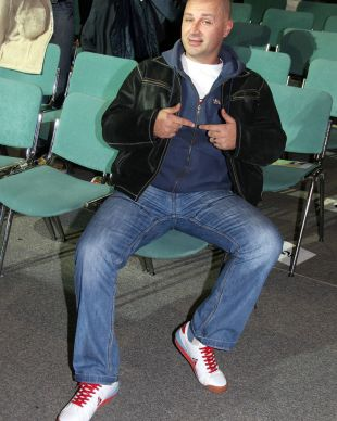 Miran Rudan v dvorani<br>
