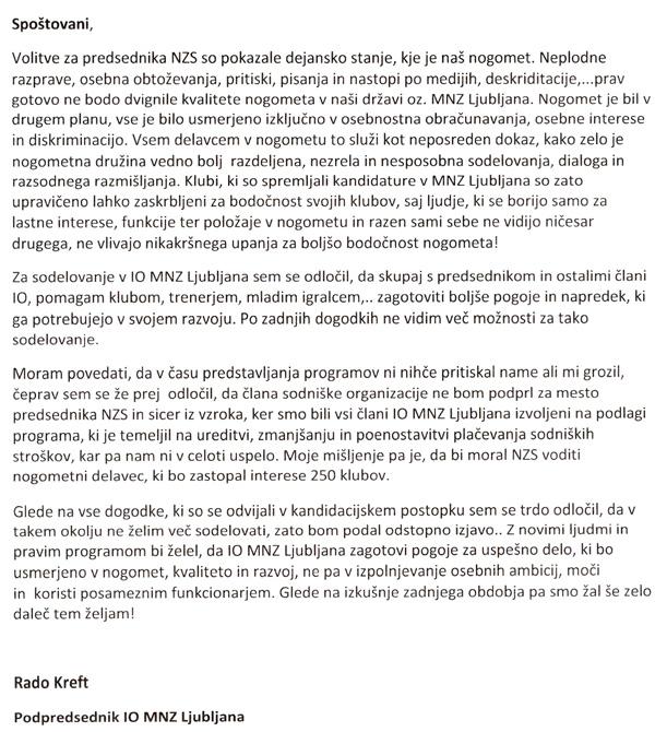 Pismo Ivana Krefta ...<br>