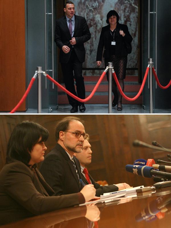 Gordana Pipan je vodila kabinete že dveh ministrov za finance, Uroša Čuferja (na sliki zgoraj) in Mitje Gasparija (slika spodaj). Aktualni finančni minister Dušan Mramor je menda ni hotel za šefinjo svojega kabineta, jo bo pa zdaj rešil ter zaposlil na ministrstvu za finance.<br>